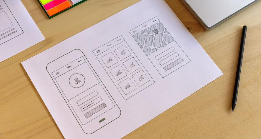 Hand-Sketched App Prototype