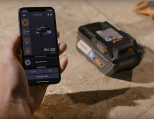 RIDGID Bluetooth and App-Enabled Battery