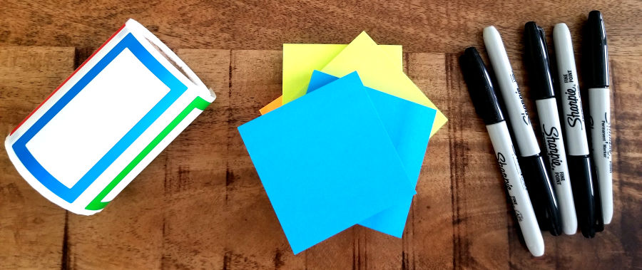 Lean Beer Supplies - Post-its, Sharpies, Name tags