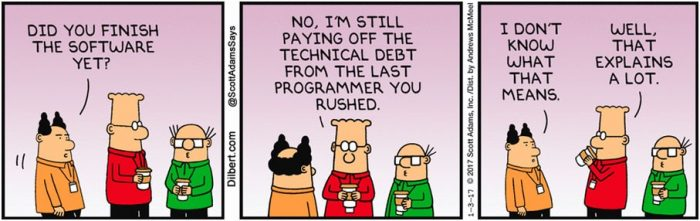 Dilbert - Technical Debt Comic Strip