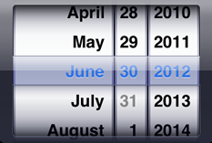 Early iOS Date PIcker