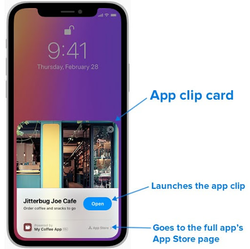 iOS 14 App Clip Card