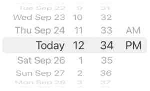 iOS 14 Wheel Date Picker