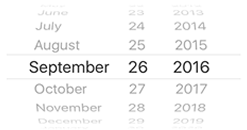 iOS 7 Date Picker